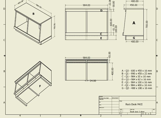Studio Compact Rack Desk Plans Studio Furniture Plans Desk Plans Studio Furniture