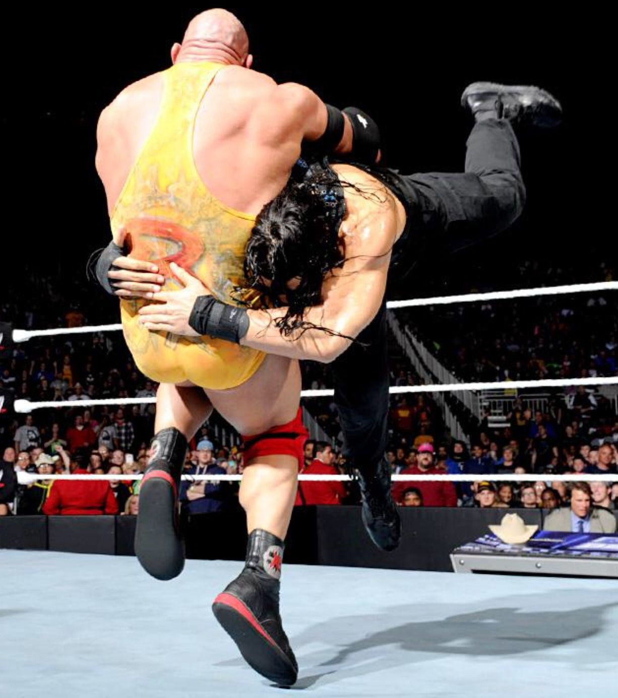 wwe roman reigns spear on ryback wwe pinterest wwe roman