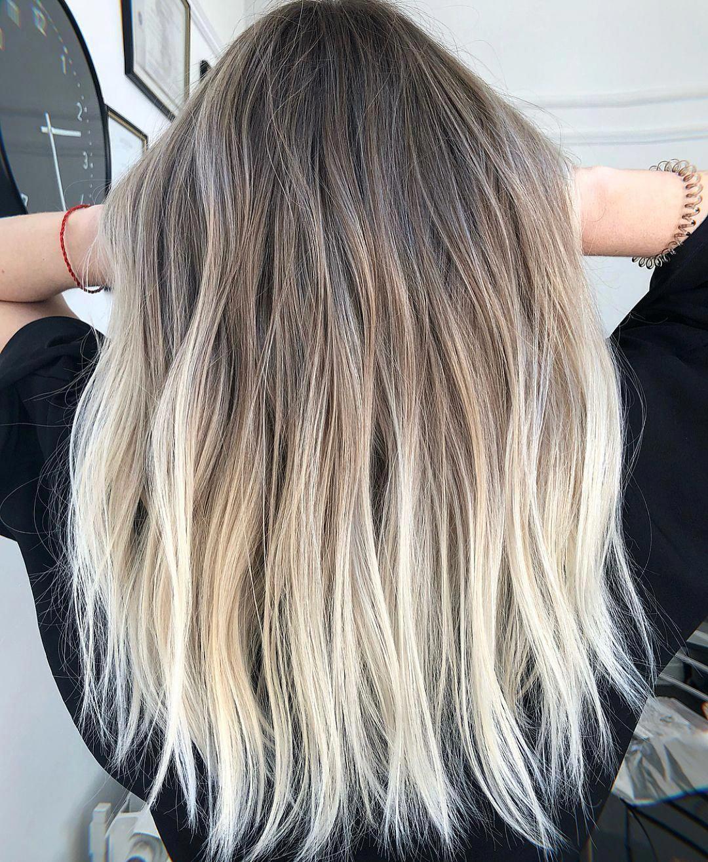 Short Haircuts For Women Straight Hair Back Short And Straight Hairstyles 20190227 Ombrestraighthair Ombre Hair Blonde Short Hair Balayage Balayage Hair