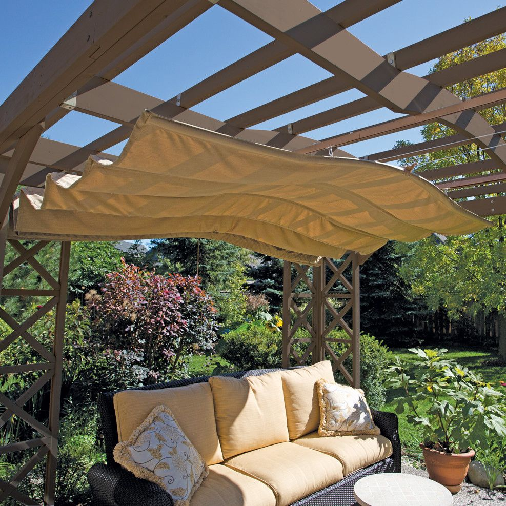 Yardistry Retractable Sunshade   Donu0027t Let Mother Nature Be The Boss Of  You. The Yardistry Retractable Sunshade Will Allow You To Enjoy Your Time  Outdoors, ...