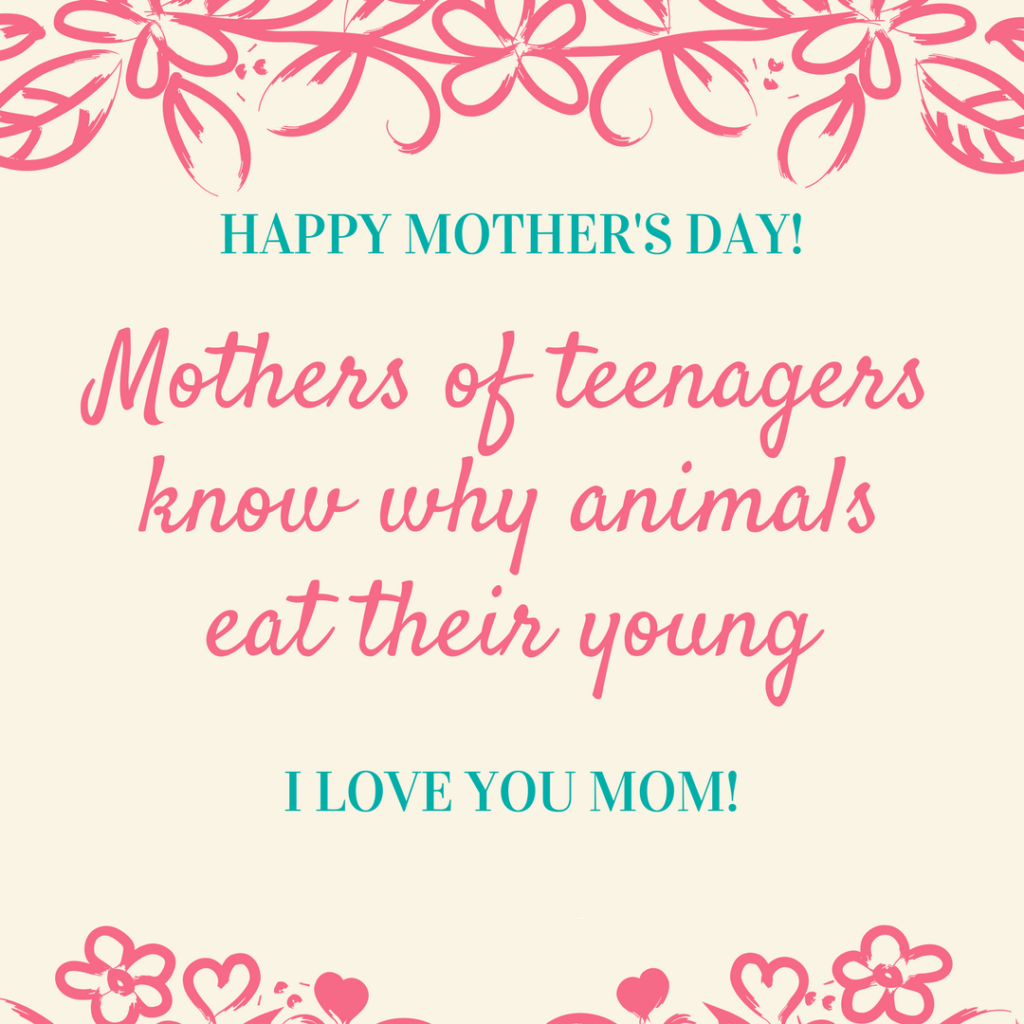 Funny Mother's Day Poem | Happy mother day quotes, Funny ...