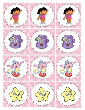 Dora birthday cupcake toppers Dora the explorer cupcake toppers