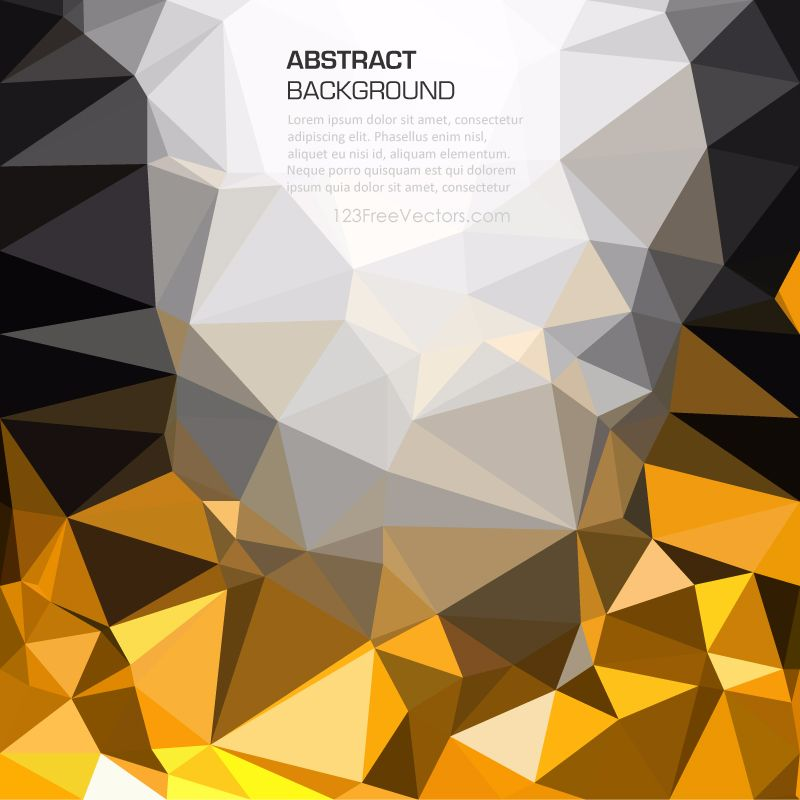 Gold And Black Geometric Polygon Wallpaper Gold Glitter