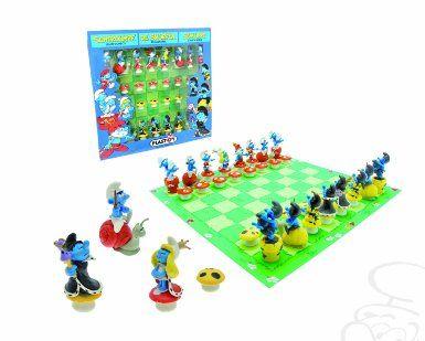 Amazon Com Plastoy Smurfs Chess Set Toys Games Board Games