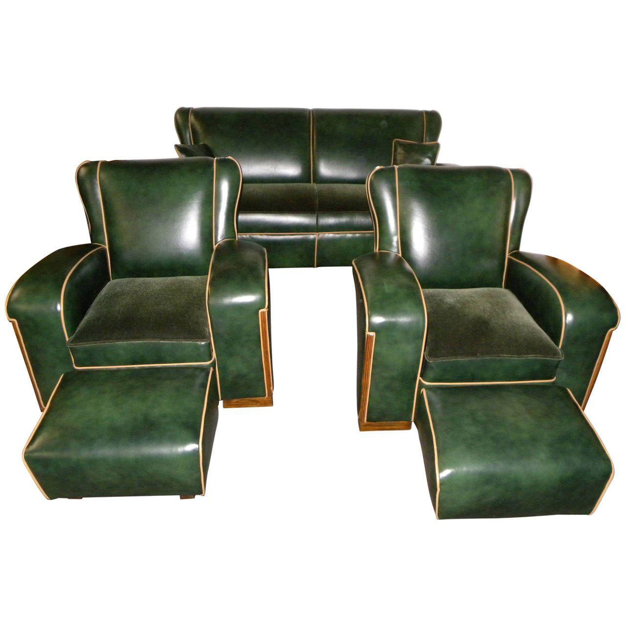 Unique Art Deco Sofa Suite Art Deco Sofa Art Deco And Unique # Muebles Tubulares Ponce