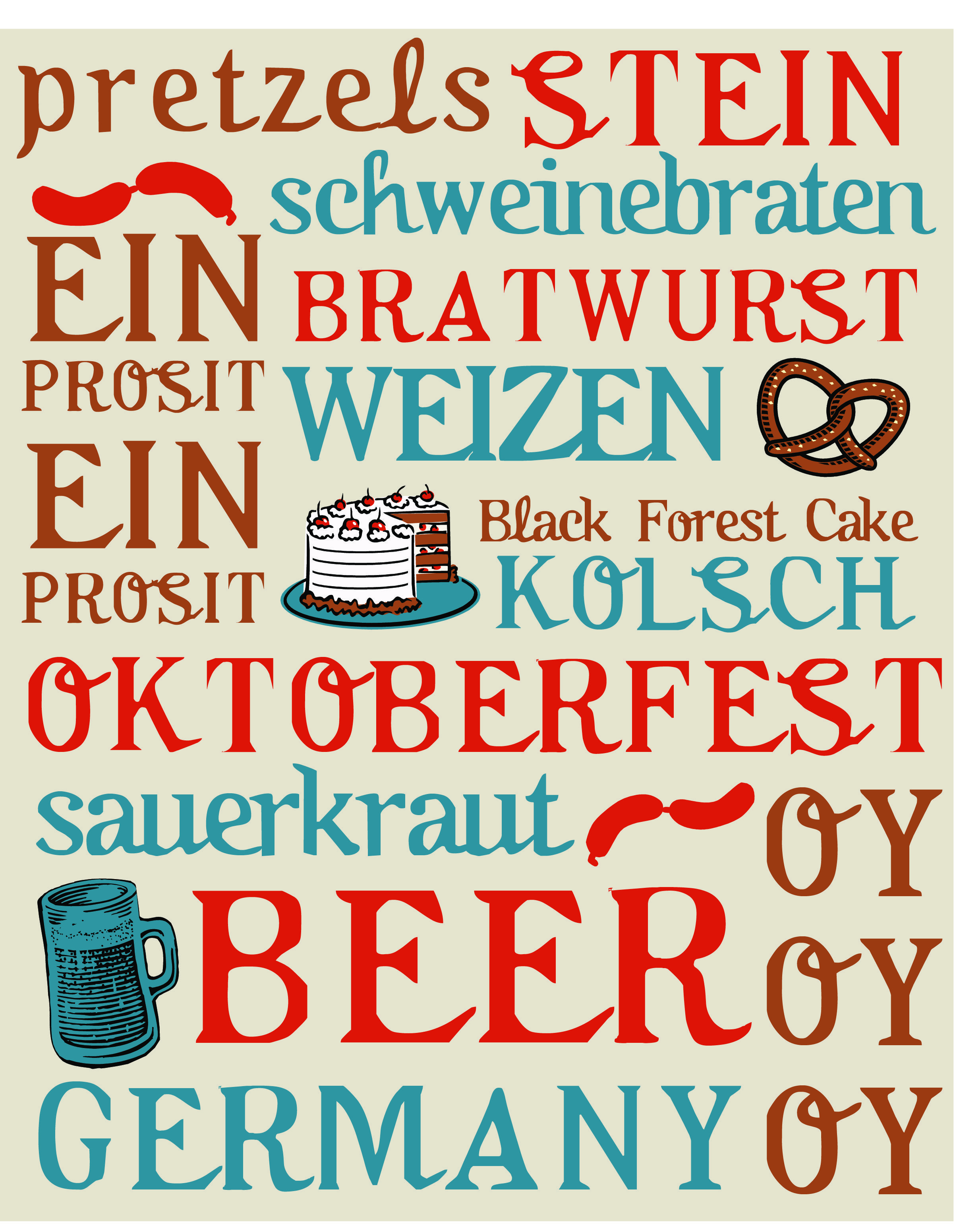 october is for oktoberfest - free printable for october home decor ...