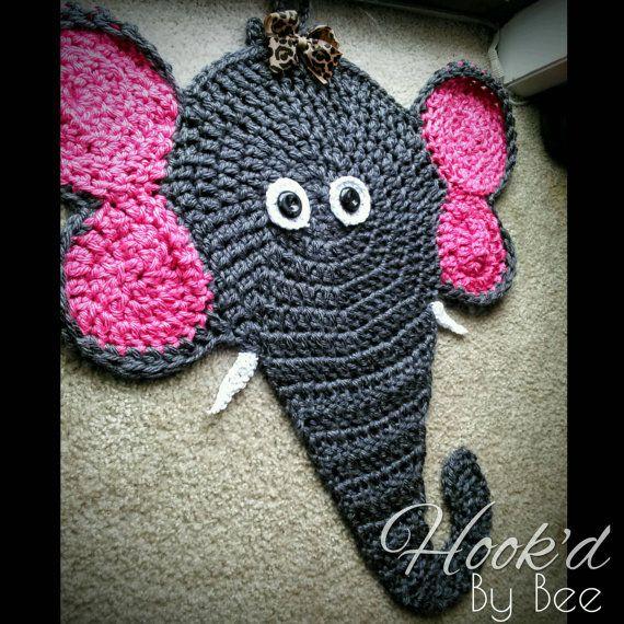 Crochet Elephant Rug | baby crochet patterns | Pinterest
