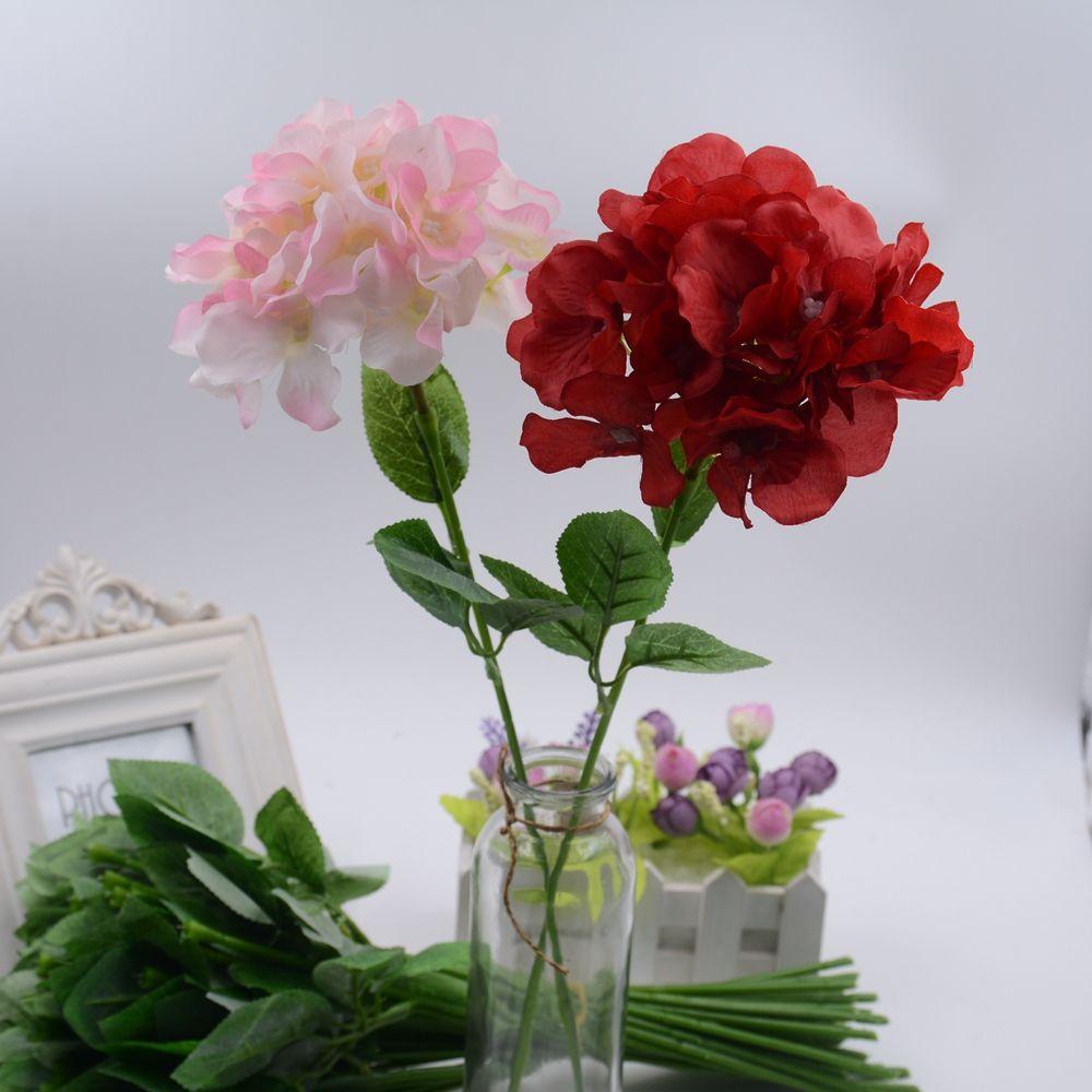 Big silk artificial hydrangea flower for wedding valentine