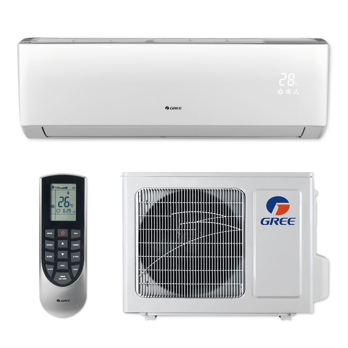 Gree 9 000 Btu 23 Seer Vireo Wall Mount Ductless Mini Split Air Conditioner Heat Pump 115v Ductless Mini Split Ductless Heat Pump