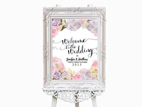 Printable Welcome Wedding Poster Template Editable By Xobspoke