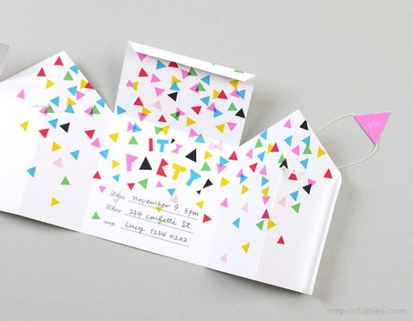 DIY invitacin de cumpleaos original para tu prxima fiesta