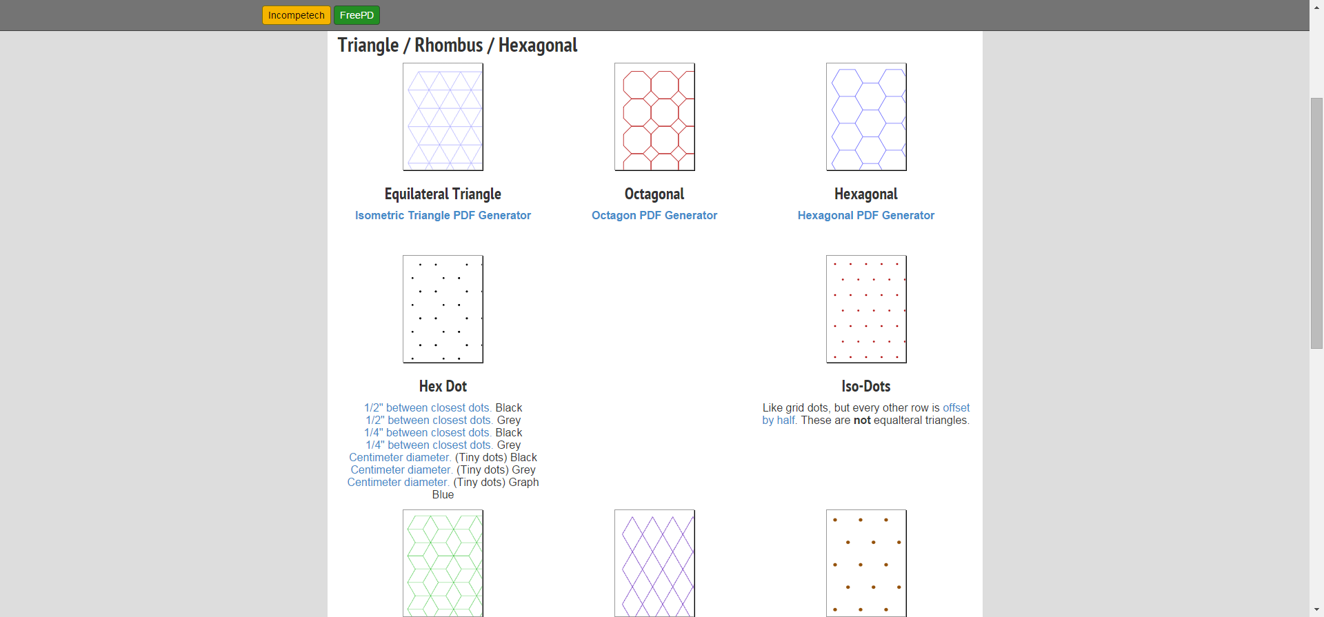 Free Online Graph Paper / Triangle Hexagonal Grid Paper PDFs