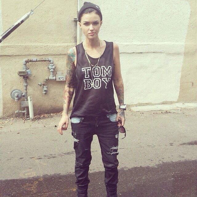 I Frickin Love Ruby Rose Dem Tattoos Are My Weakness Tomboy Fashion Ruby Rose Androgynous Girls