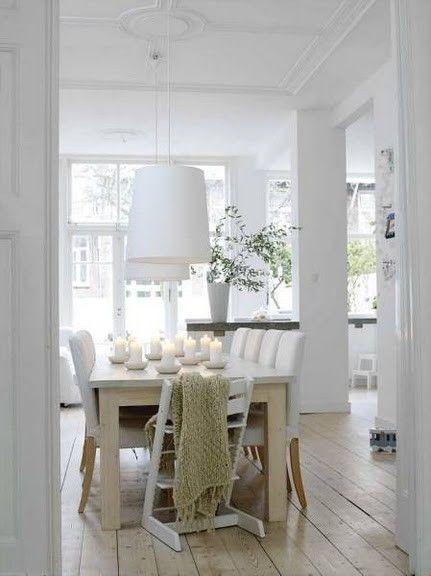 Hvid, white, stue, spisestue, indretning, interiør, boligindretning ...
