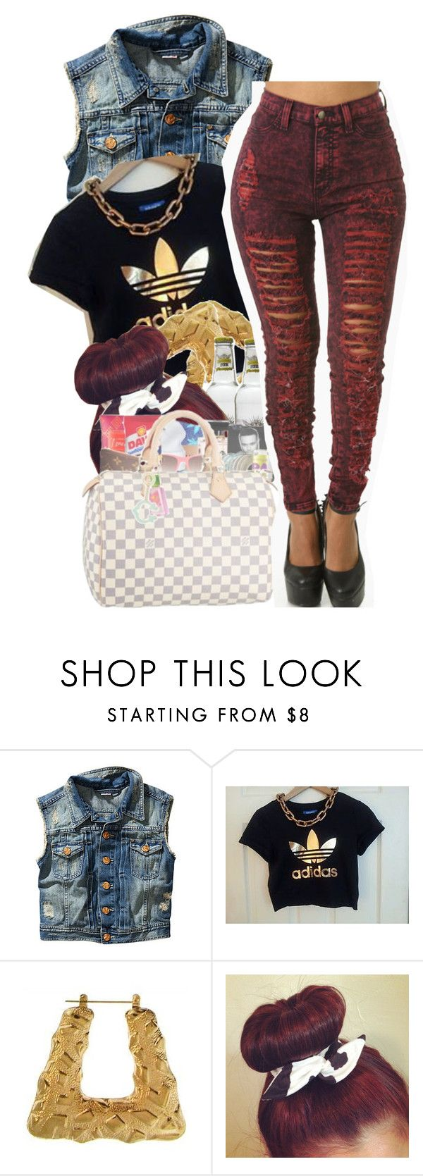""""""" He ain't even fly enough, He don't even drive no """" by diane-corporan ❤ liked on Polyvore featuring H&M and adidas"""