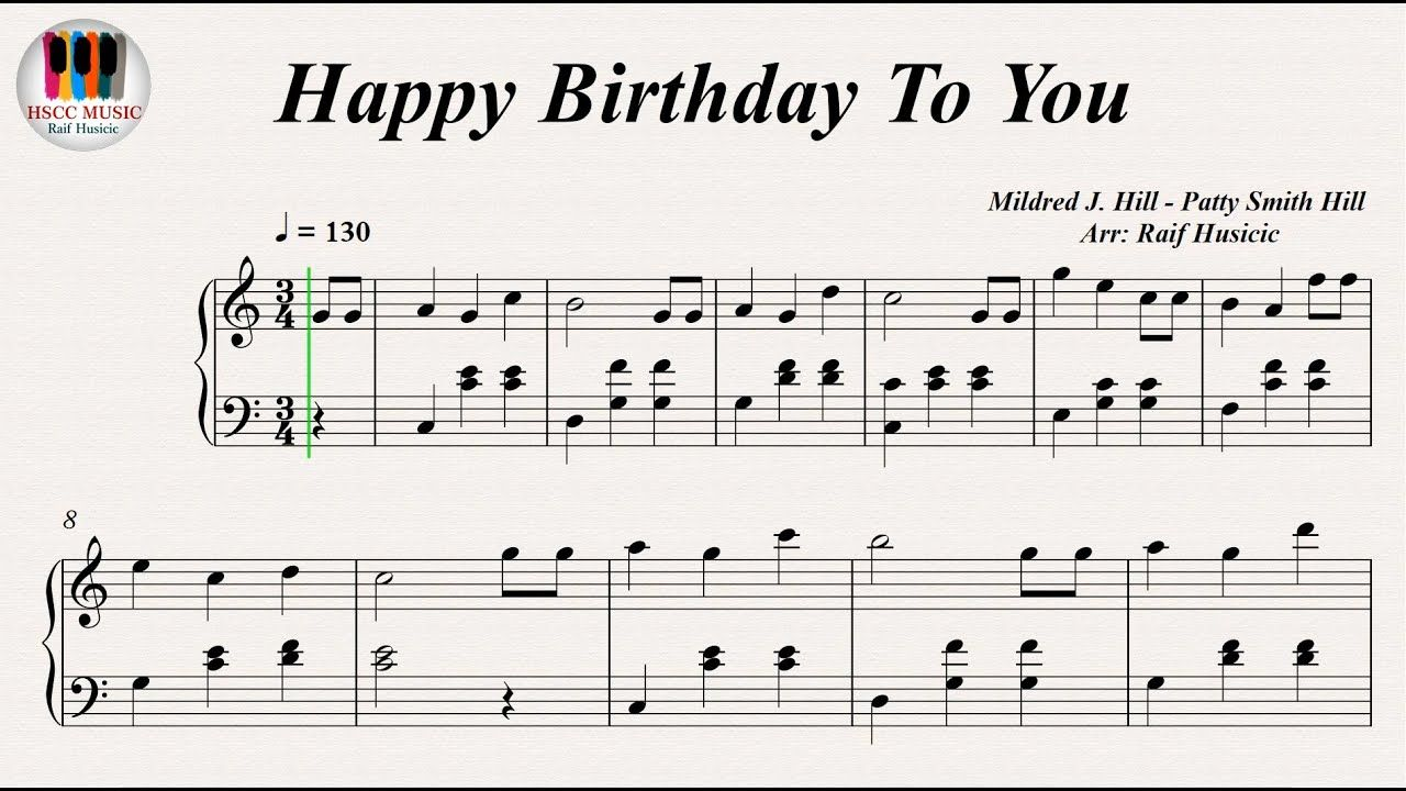 Happy Birthday To You Piano Songs For Teachers Music Happy