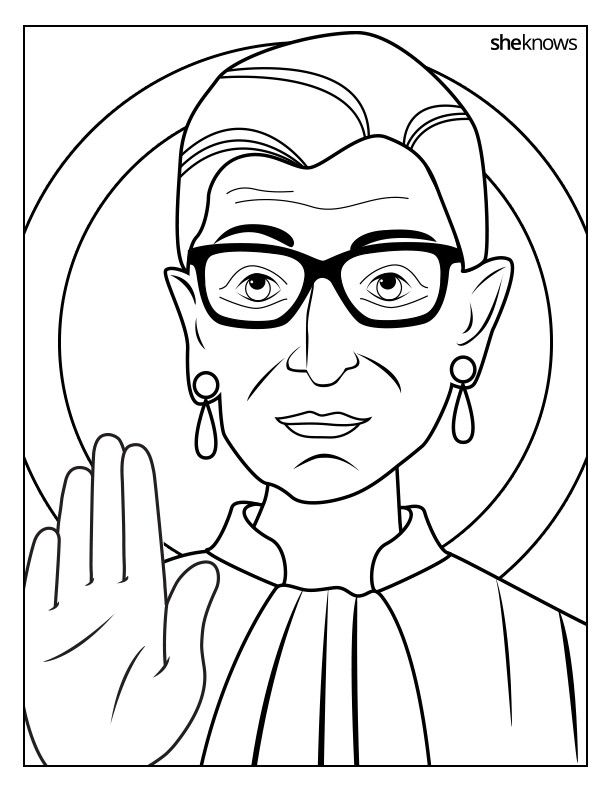 This Ruth Bader Ginsburg Coloring Book Is 9 Printable Pages Of