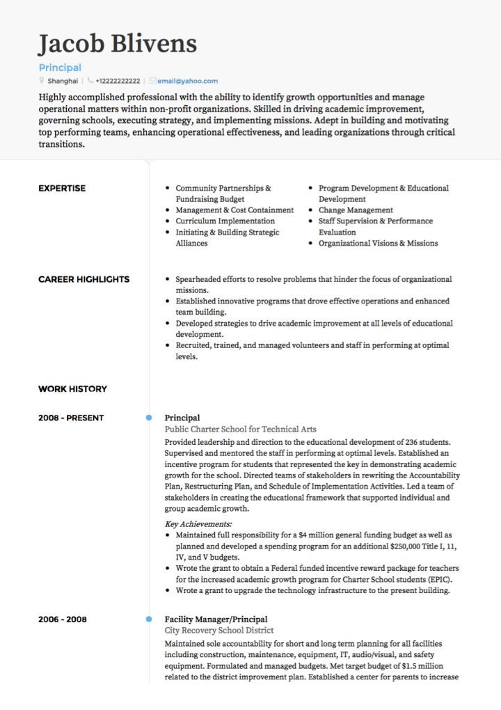 A Teacher Resume Examples Resume Examples Pinterest Sample