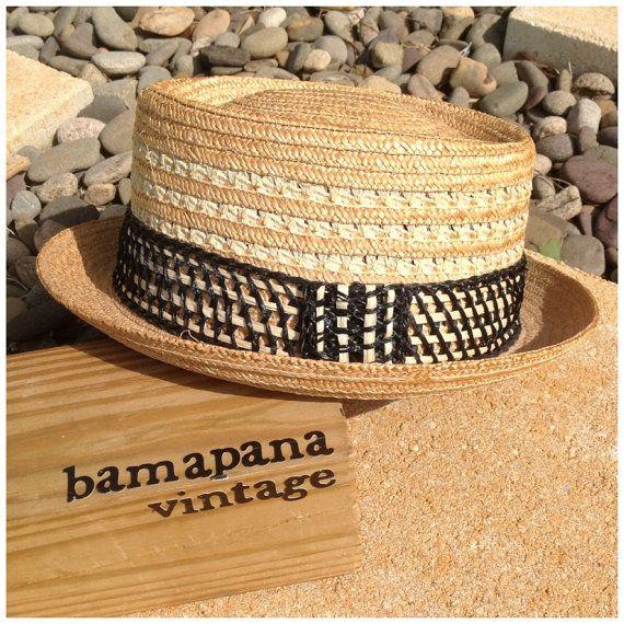 0b03b7fa Vintage 1950s Genuine Milan Straw SUMMER Fedora MENS by bamapana, $20.00  Men Beach, Stylish