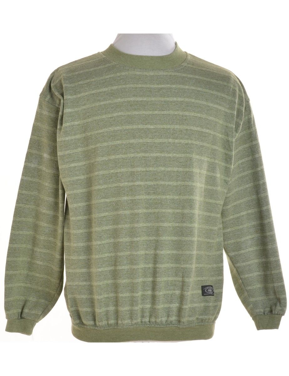 Plain Sweatshirt Light Green