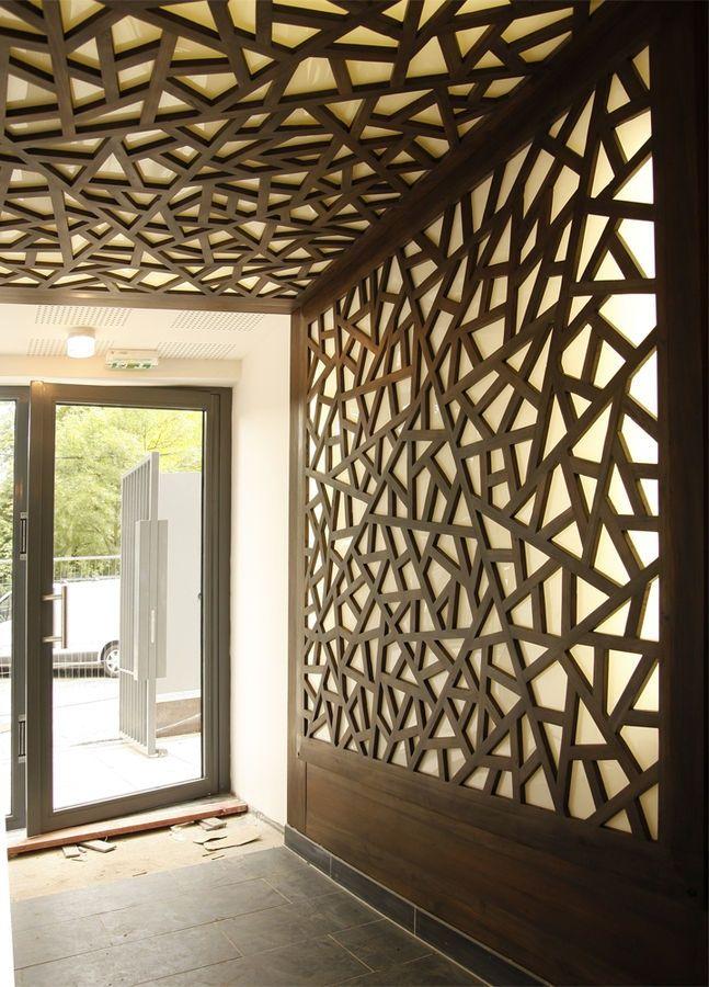 modular office wall design idea - Breakfast House Restaurant Wall Designs