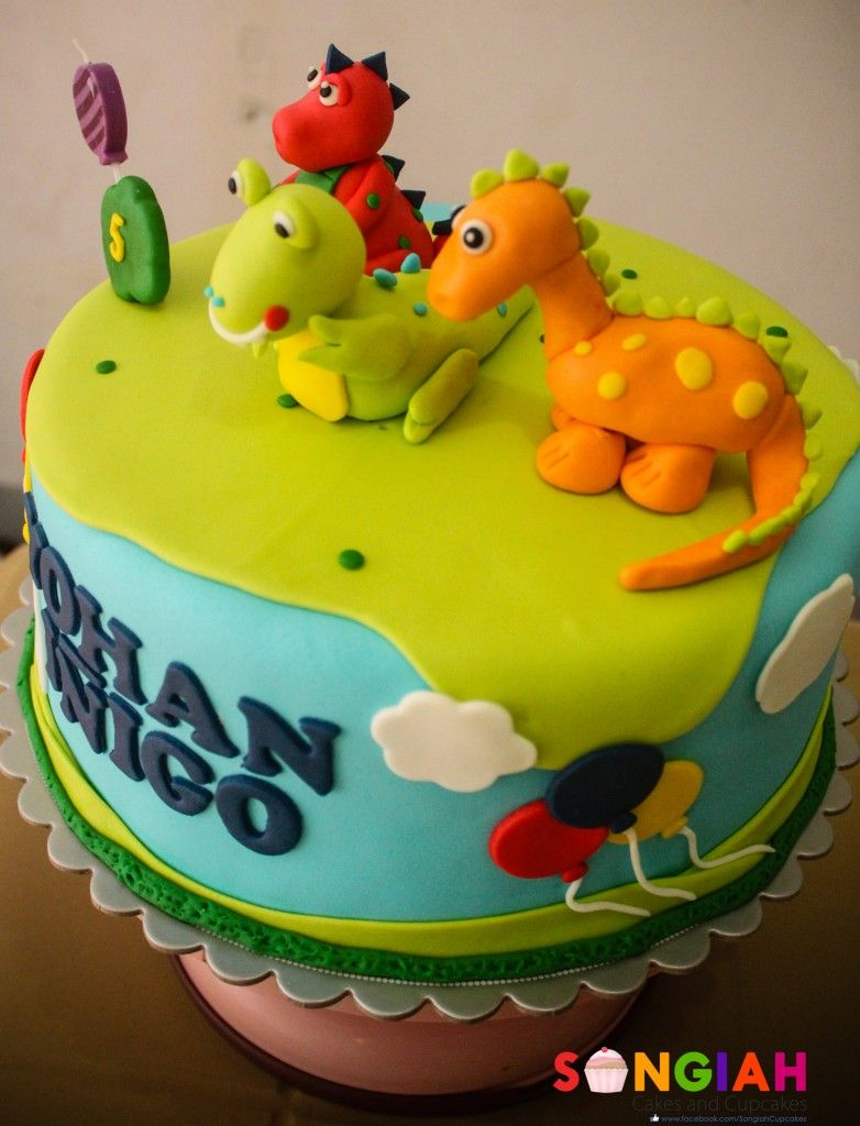 Dinosaur Birthday Cake Cake Design Database Dinasour Party Ideas