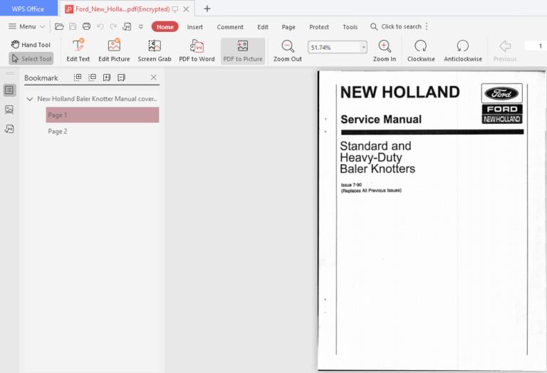 Ford New Holland Baler Knotters Workshop Service Repair Manual Pdf Download New Holland Baler Ford News Repair Manuals