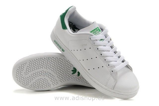on sale 6c11f 1be1d Adidas Originals Stan Smith Mujer Zapatos Casuales Blancas Verdes.  http   www.