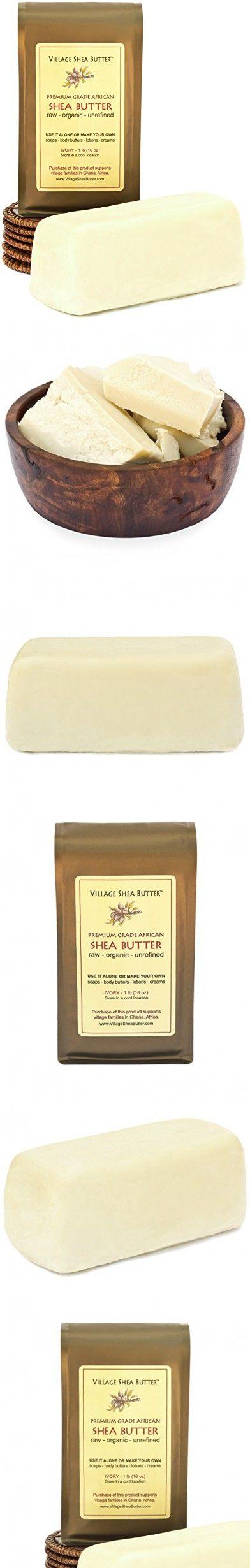 Village Shea Butter Raw Organic Unrefined 1 Lb Raw Organic Shea Butter Unrefined