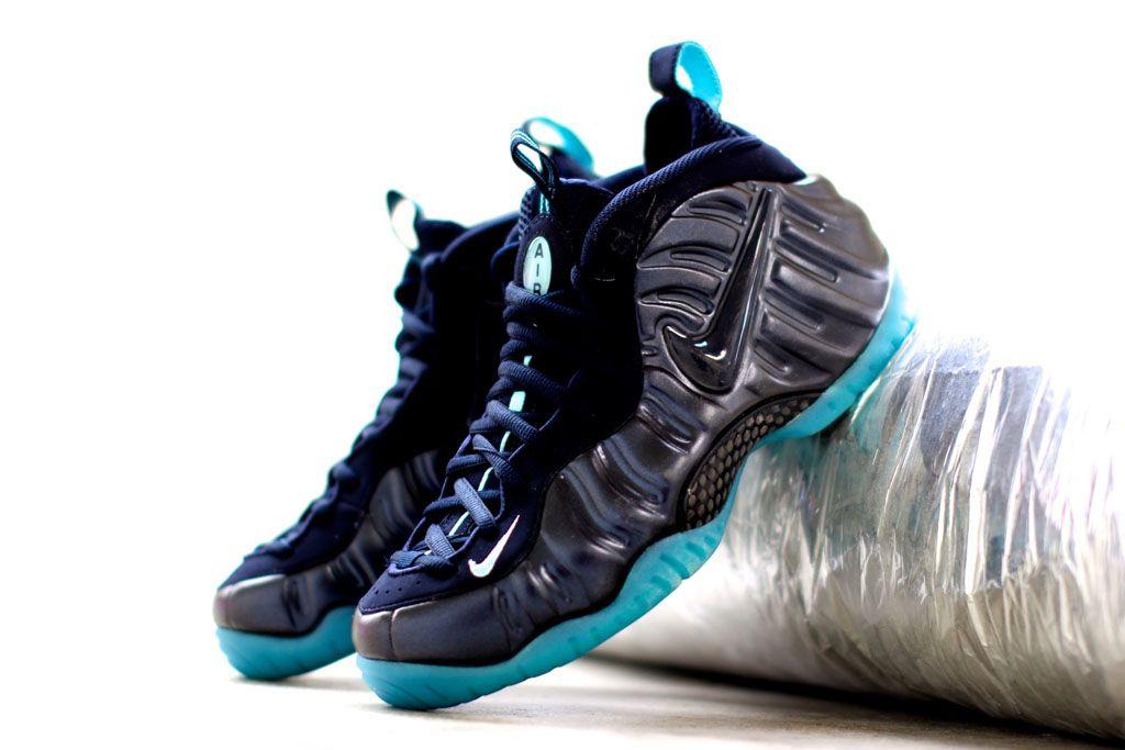 dc3d1d230cf Nike Air Foamposite Pro Dark Obsidian Blue Aquamarine