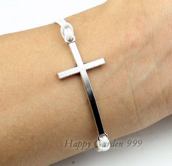 Sideways CrossSideways Cross bracelet Retro by happygarden999, $1.39