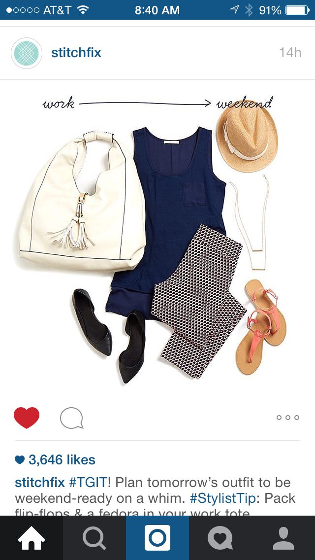 Cute! Like the shape of the shirt and printed pants that can be casual or polished.