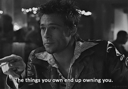 Image result for fight club you are not the thing you own