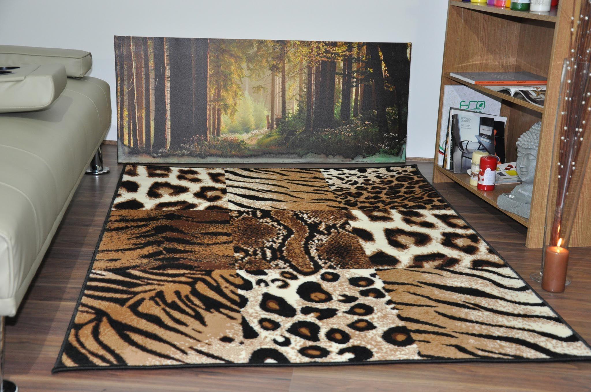 Leopard Print Area Rug