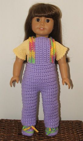 CROCHET - Free pattern - AG doll Weekender set
