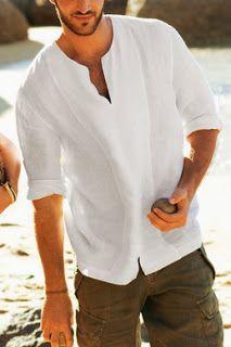 El Baul De Las Costureras Camisa De Lino Hombre Ropa De Hombre Ropa De Playa Hombre