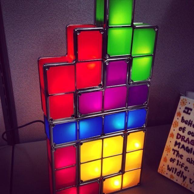 My New Tetris Desk Lamp From John Koches Courtesy Of Thinkgeek Customer Service Sweet Lamp Led Desk Lamp Desk Lamp Lamp