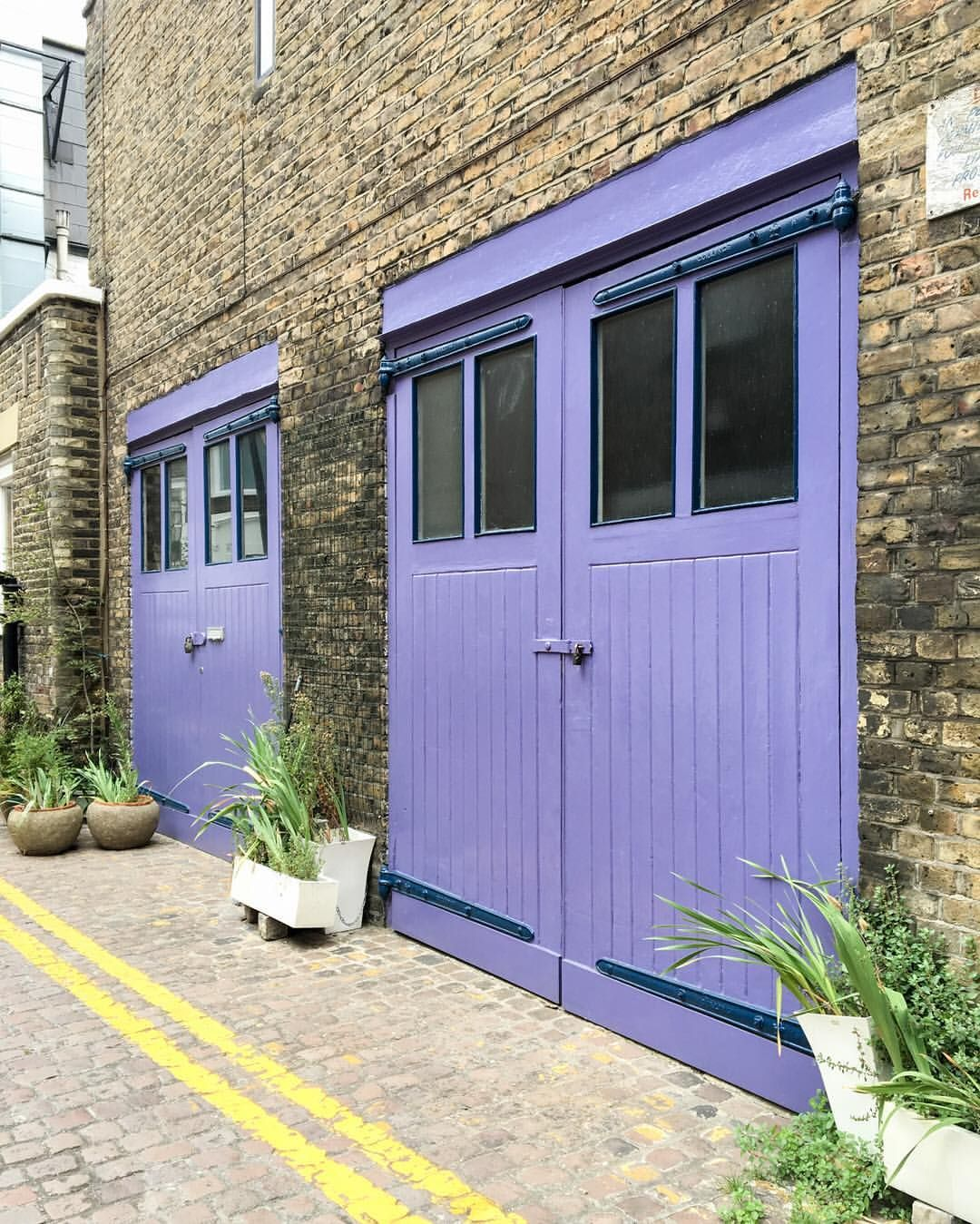 Lights The Garage London: Purple Garage Doors In A South Kensington Mews, London