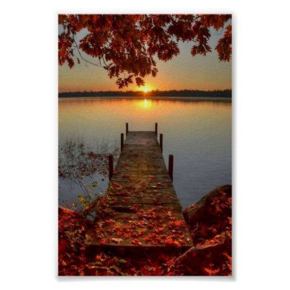 a autumn's day poster | Zazzle.com