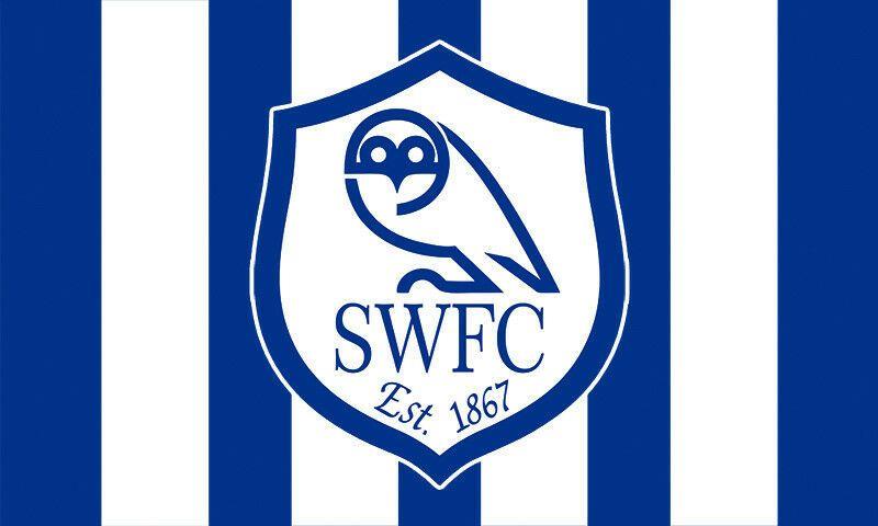 Football soccer england epl sheffield wednesday logo flag