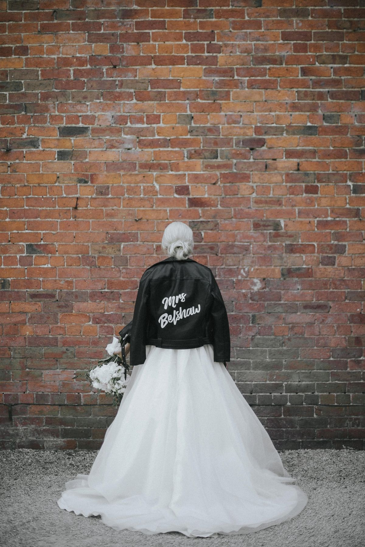 A sassi holford gown for an elegant and edgy black tie wedding