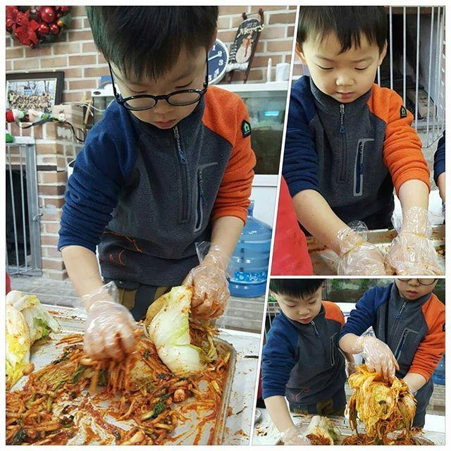 맛있는 김치를 만듭니다! (사진 보내주신 선생님께 감사드립니다~^^) 끝!