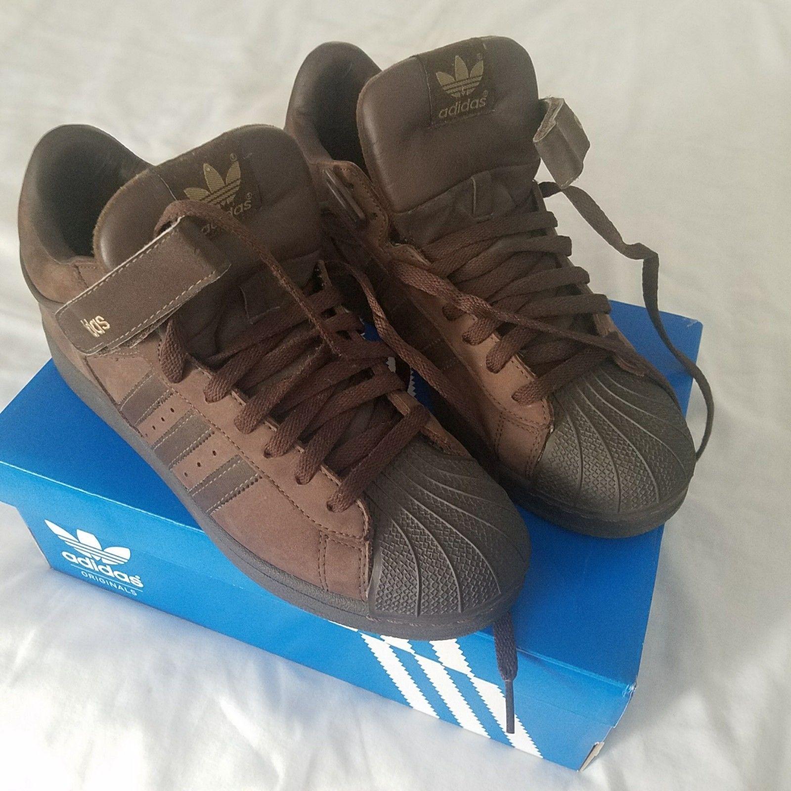 Adidas Shell Toe Pro Model quarter top Brown on Brown Men