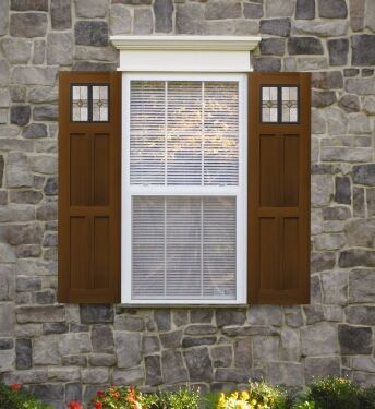 Arts and crafts shutters for the home pinterest house and curb appeal for Arts and crafts exterior shutters