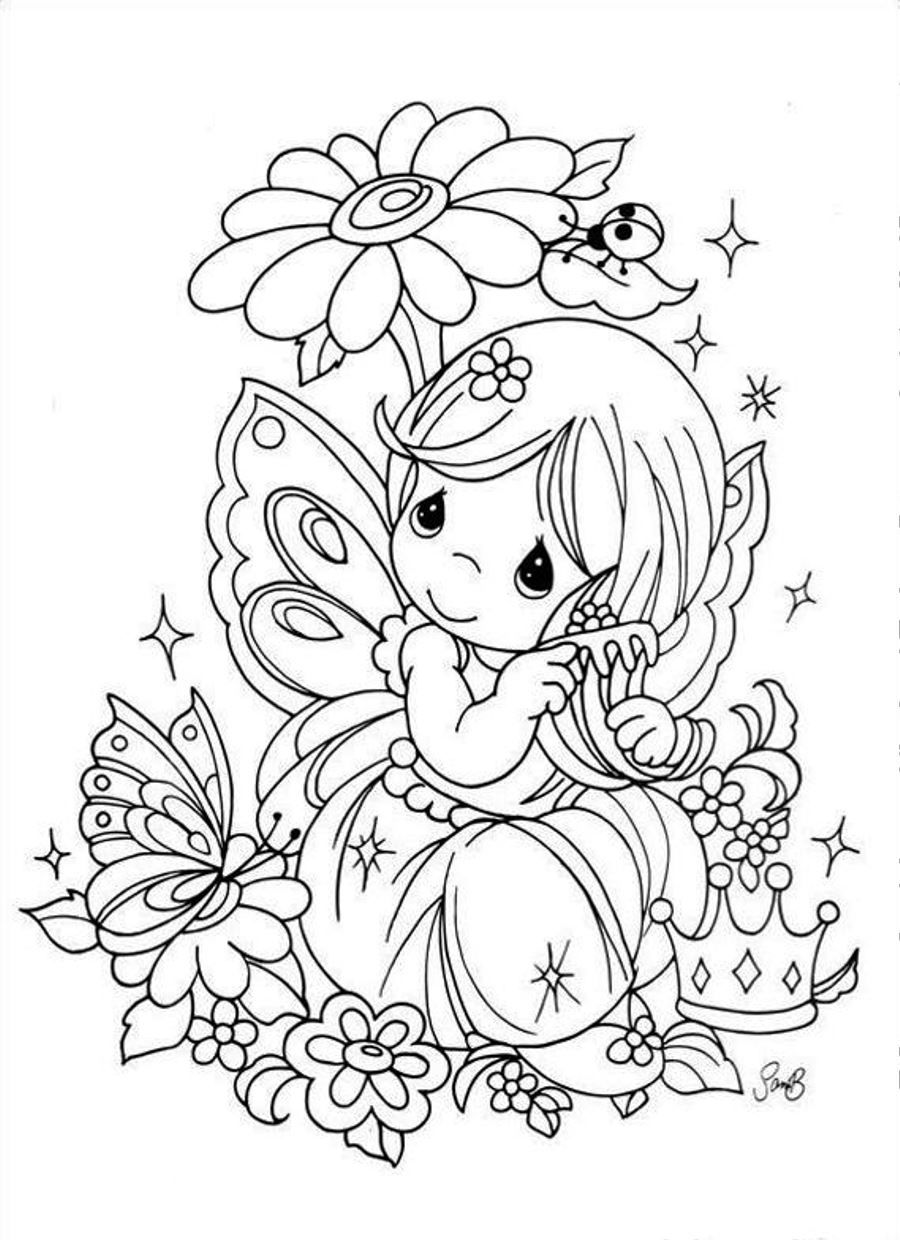 Precious Moments | Coloring Pages: Precious Moments | Pinterest ...