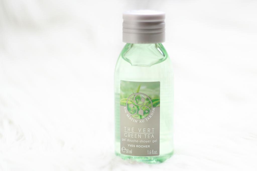a beauty day - green tea shower gel yves rocher