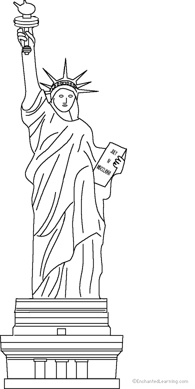 statue of liberty coloring pages Statue of Liberty vbs