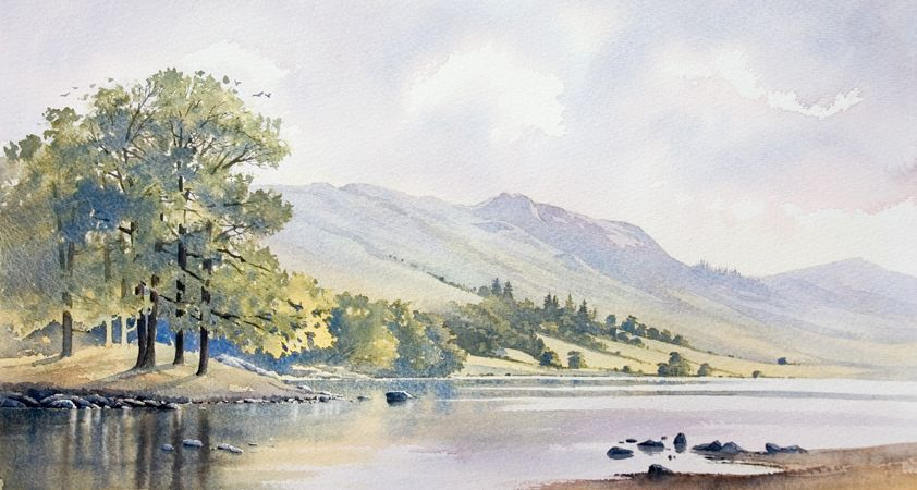 Gallery Landscape Watercolour Paintings Of Snowdonia The Lake District And Scotland Ch Watercolor Landscape Landscape Paintings Watercolor Paintings Easy