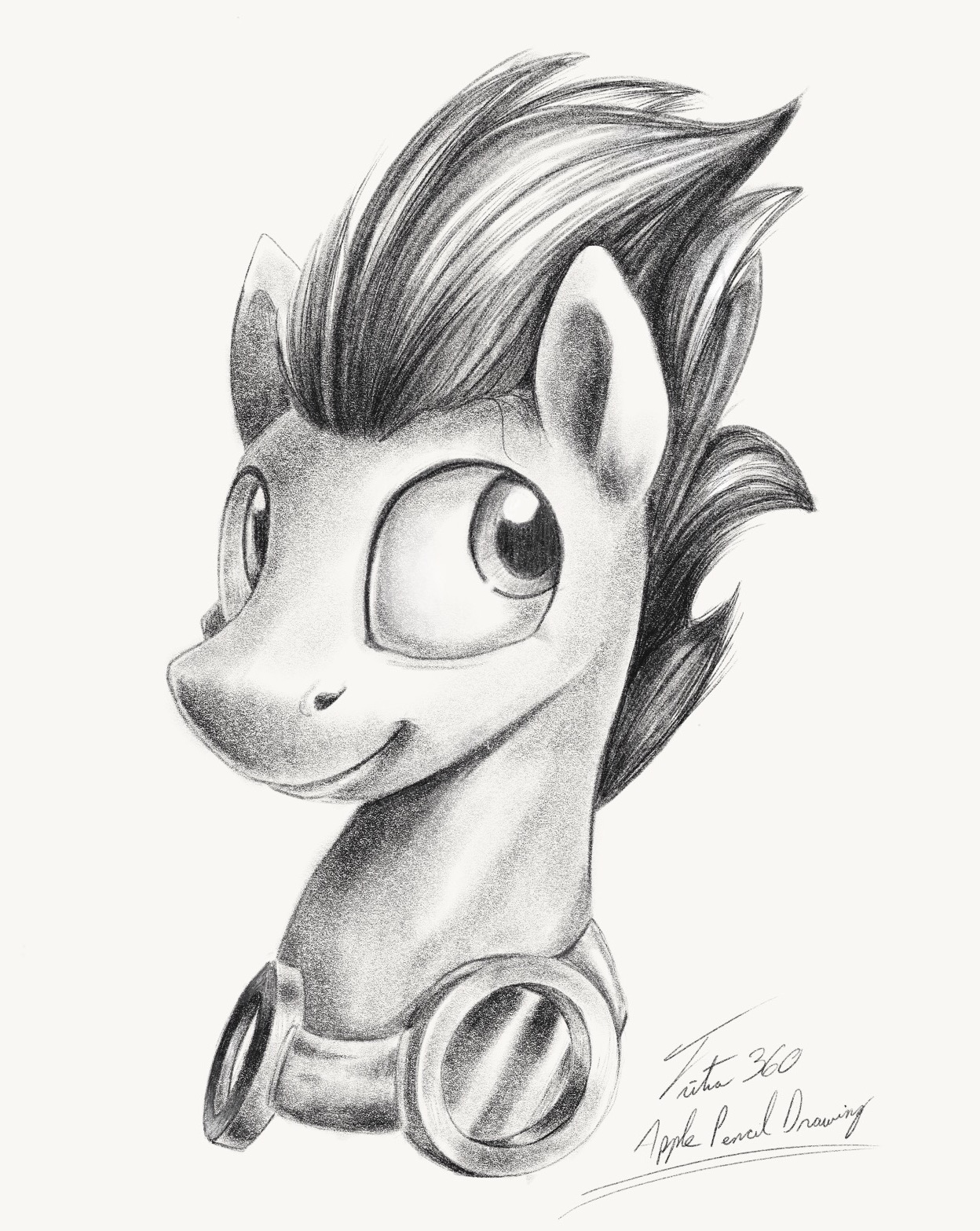 Soarin apple pencil drawing by tsitra360 deviantart com on deviantart