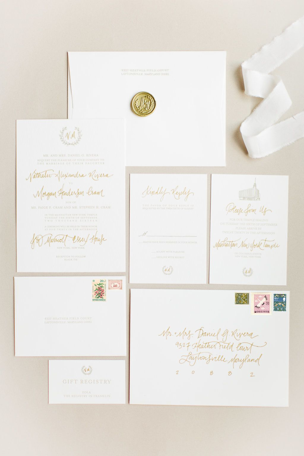 The NYC Wedding You\'ve Been Dreaming Of   Ballrooms, Invitation ...
